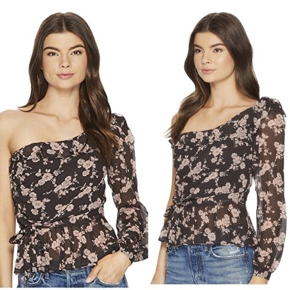08a88a302ae6c FOR LOVE   LEMONS Theo NWT Silk Blouse Top XS 0 2